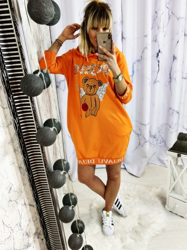 BLUZA Z MISIEM ORANGE DEJAVU